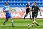 Na snímku vpravo Horst Siegl v přátelském fotbalovém utkání 25.května 2019 v Ostravě.