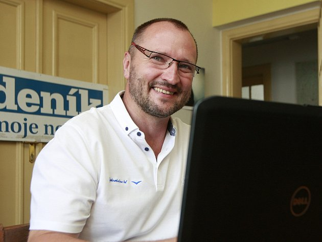 Jakub Unucka v ostravské redakci Deníku.