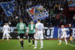 Utkání 22. kola první fotbalové ligy: Baník Ostrava - FK Jablonec, 24. února 2020 v Ostravě. Fanoušci Baníku.