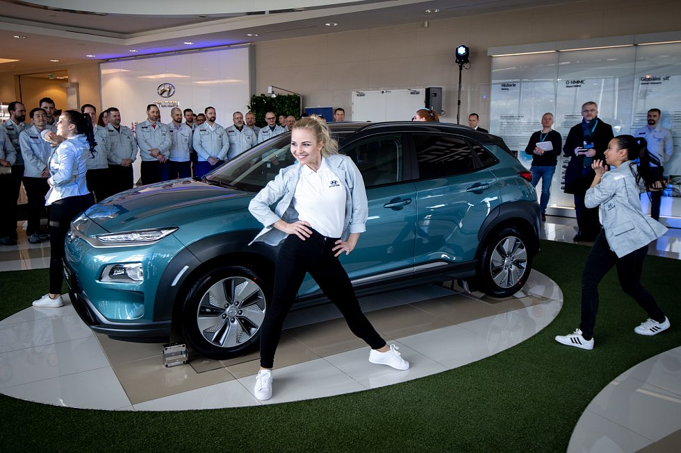 Automobilka Hyundai zahájila v Nošovicích sériovou výrobu elektromobilu Kona Electric, 12. března 2020.