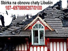 Číslo účtu sbírky na obnovu Libušína
