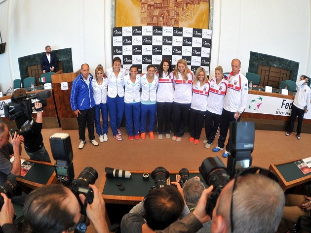 Los semifinále Fed Cupu mezi Českou republikou a Itálií v Ostravě.