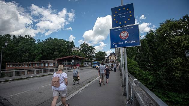 Otevření hranice mezi Českou republikou a Polskem, 30. června 2020 v Českém Těšíně.