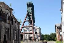 Těžní věž Dolu Alexandr prochází opravou