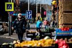 Ostrava v celostátní karanténě, 19. března 2020. Vláda ČR vyhlásila dne 15.3.2020 celostátní karanténu kvůli zamezení šíření novému koronavirové onemocnění (COVID-19). Od 19.3.2020 také povinné nošení roušek na veřejnosti.