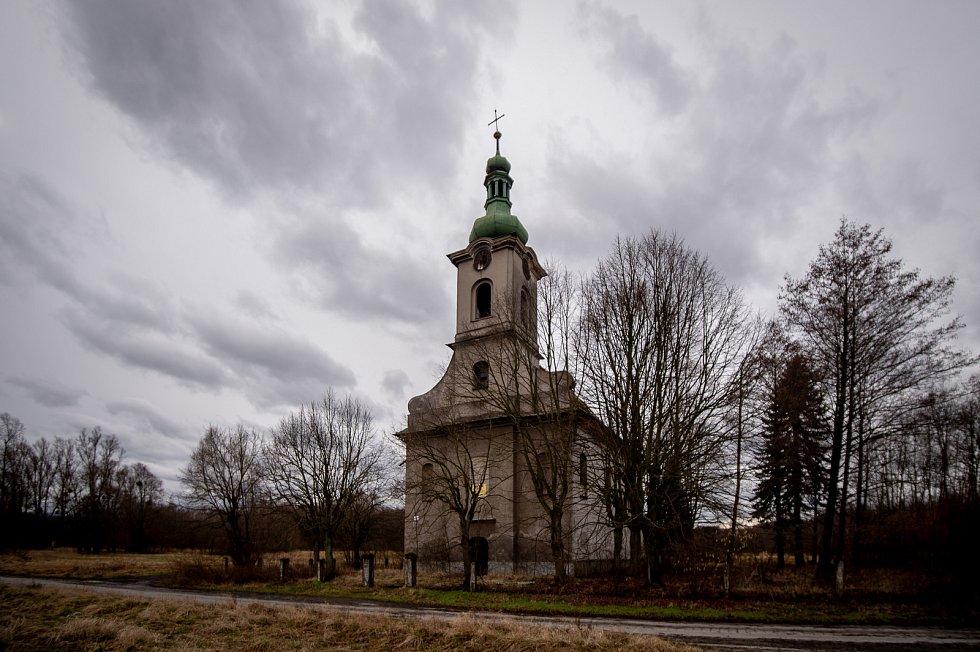Kostel svaté Barbory 26. února 2020 u Karviné.