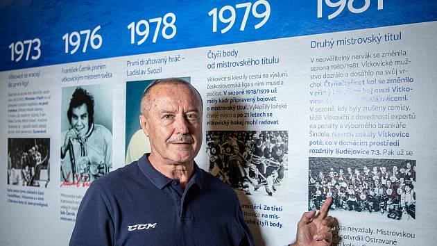 Bývalý český hokejový útočník Radoslav Kuřidým při fotografování pro Deník, 10. září 2020 v Ostravě. Mistr s Vítkovicemi z roku 1981.