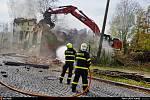Zásah hasičů u požáru rodinného domu ve Slezské Ostravě.