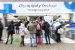 Olympijský festival u Ostravar arény.Davy návštěvníků
