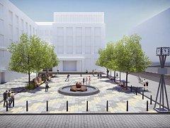 I v případě, že by centrální ostravský obvod přistoupil na změny prostor před svou radnicí podle návrhu architektonické kanceláře Vysloužil Architekti. (viz vizualizaci)