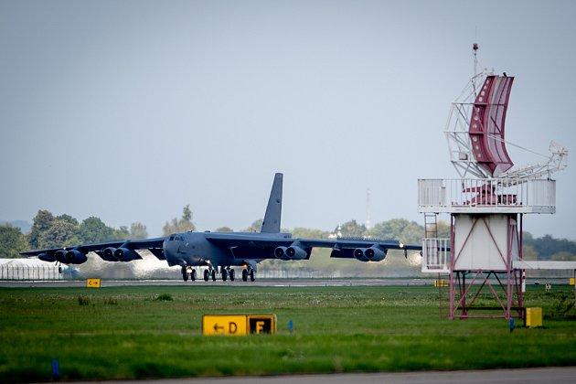 Přílet amerického bombardéru B-52Stratofortress, 17.září 2019vMošnově.