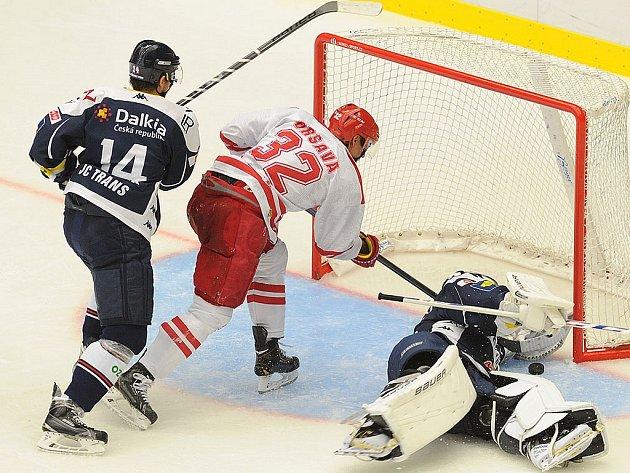 Steel Cup: Oceláři Třinec – Vítkovice 2:3.