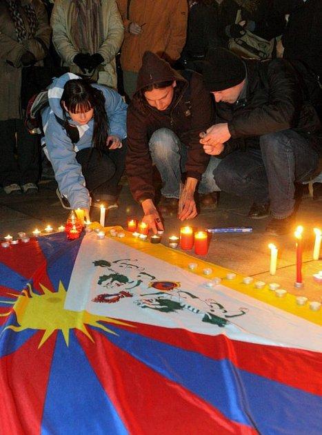 Ostravané podpořili v ulicích města Tibeťany