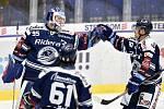 Utkání 41. kola hokejové extraligy: HC Vítkovice Ridera - PSG Berani Zlín, 28. ledna 2020 v Ostravě. Na snímku (zleva) brankář Vítkovic Miroslav Svoboda a Jan Hruška.