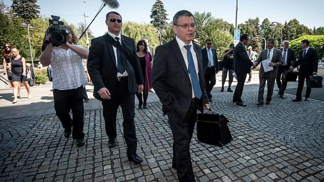 Lubomír Zaorálek. Snímek z jeho pracovní návštěvy Ostravy (výjezdní zasedání vlády - rok 2015).