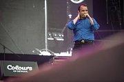 Hudební festival Colours of Ostrava 2018 v Dolní oblasti Vítkovice, 18. července 2018 v Ostravě. Na snímku skupina Future Islands.