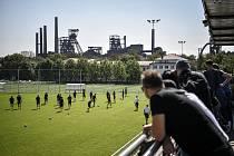 Trénink ČR před utkáním kvalifikace mistrovství světa ve fotbale proti Belgii, 3. září 2021 v Ostravě.