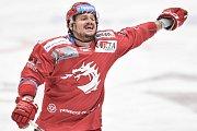 Čtvrtfinále play off hokejové extraligy - 4. zápas: HC Vítkovice Ridera - HC Oceláři Třinec, 25. března 2019 v Ostravě. Na snímku Vladimír Dravecký.