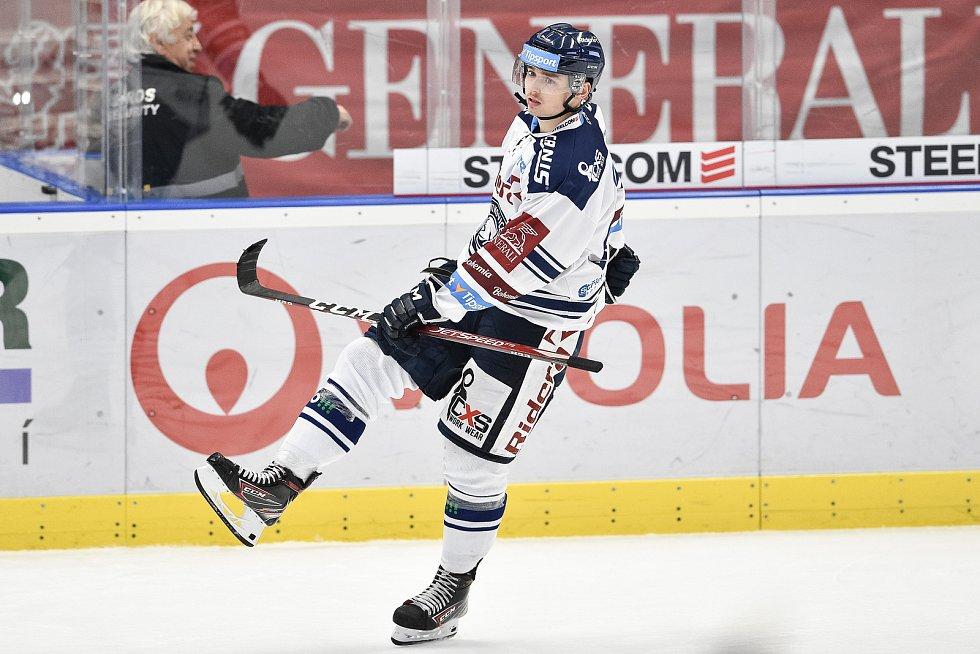Utkání 15. kola hokejové extraligy: HC Vítkovice Ridera - PSG Berani Zlín, 29. října 2019 v Ostravě. Na snímku Patrik Zdráhal.