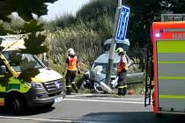 Dopravní nehoda před Porubou.