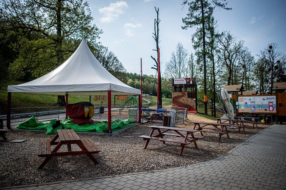 Celoroční volnočasový areál Heipark Tošovice.