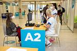 Očkovací centrum na Černé louce, 1. Března 2021 v Ostravě.
