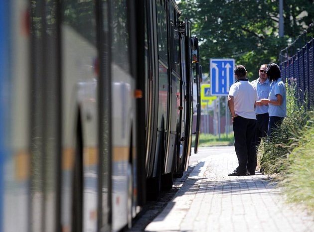 Ilustrační snímek z úterní stávky řidičů ostravské městské hromadné dopravy