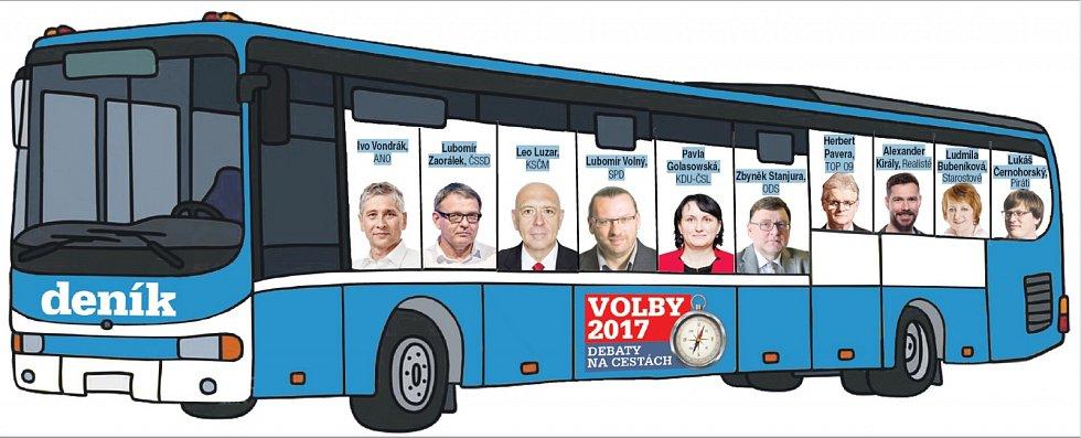 Vyjíždíme na debatu s lídry. Kdo s námi pojede?