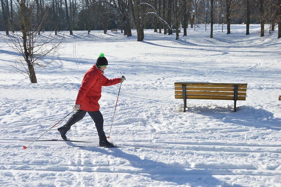 Mrazivé jarní prázdniny v Ostravě, pondělí 15. února 2021.