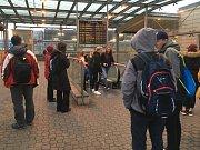 Bezpečnostní akce na nádraží v Ostravě-Svinově.