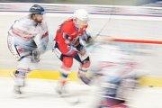 Utkání 40. kola hokejové extraligy: HC Vítkovice Ridera - HC Dynamo Pardubice, 9. ledna 2019 v Ostravě. Na snímku (zleva) Mrázek Jaroslav a Voženílek Daniel.