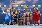 Slavnostní ceremoniál. FIVB Světové série v plážovém volejbalu J&T Banka Ostrava Beach Open, 2. června 2019 v Ostravě.