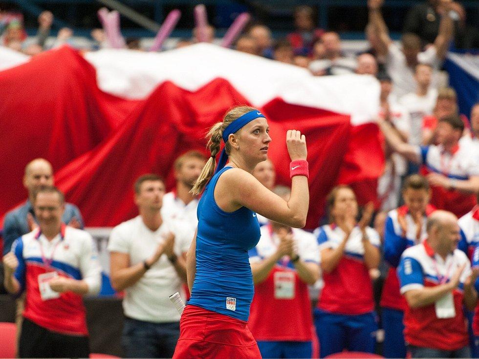Petra Kvitová, semifinále Fed Cupu 2015 v Ostravě