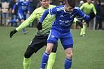 Baník (v modrém) sehrál přípravné utkání v Tipsport lize s Prostějovem.