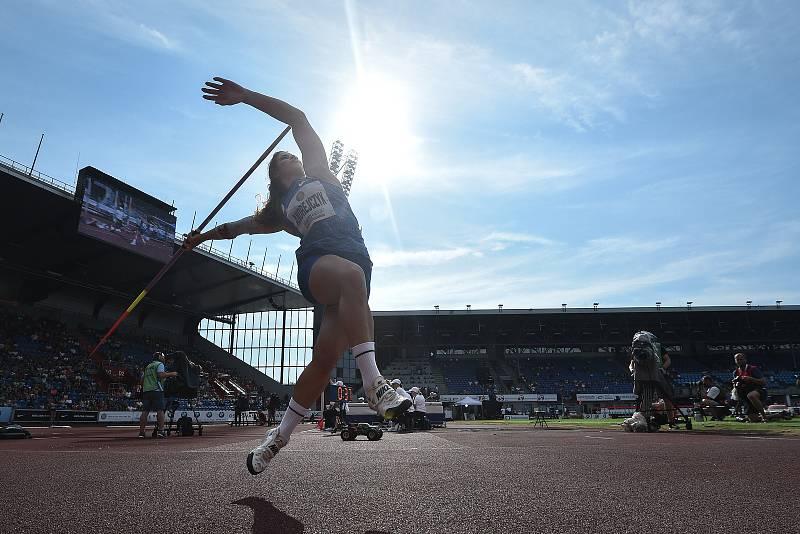 Zlatá tretra, atletický mítink IAAF World Challenge, 20. června 2019 v Ostravě. Na snímku Maria Andrejczyk.