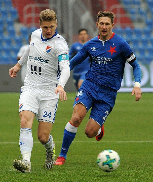 Václav Procházka v dresu Baníku Ostrava (vlevo).