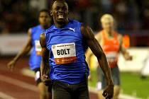 Usain Bolt na Zlaté tretře 2010.
