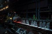 Podnik ArcelorMittal Ostrava, 19. října 2018 v Ostravě. Na snímku provoz Minihuť, ocelárna. Válcovna - role, svitky.