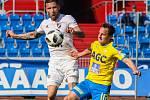 Utkání 27. kola první fotbalové ligy: FC Baník Ostrava - FK Teplice, 7. dubna 2019 v Ostravě. Na snímku (zleva) Martin Fillo, Alois Hyčka.