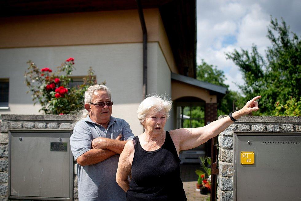 Halda Heřmanice, 28. června 2019 v Ostravě. Na snímku obyvatelé Heřmanic Jiří a Dáša Kubíčkovi.