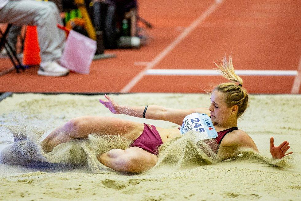 Halové mistrovství ČR mužů a žen v atletice, 23. února 2020 v Ostravě. Pavlína Minářová (TJ Dukla Praha).