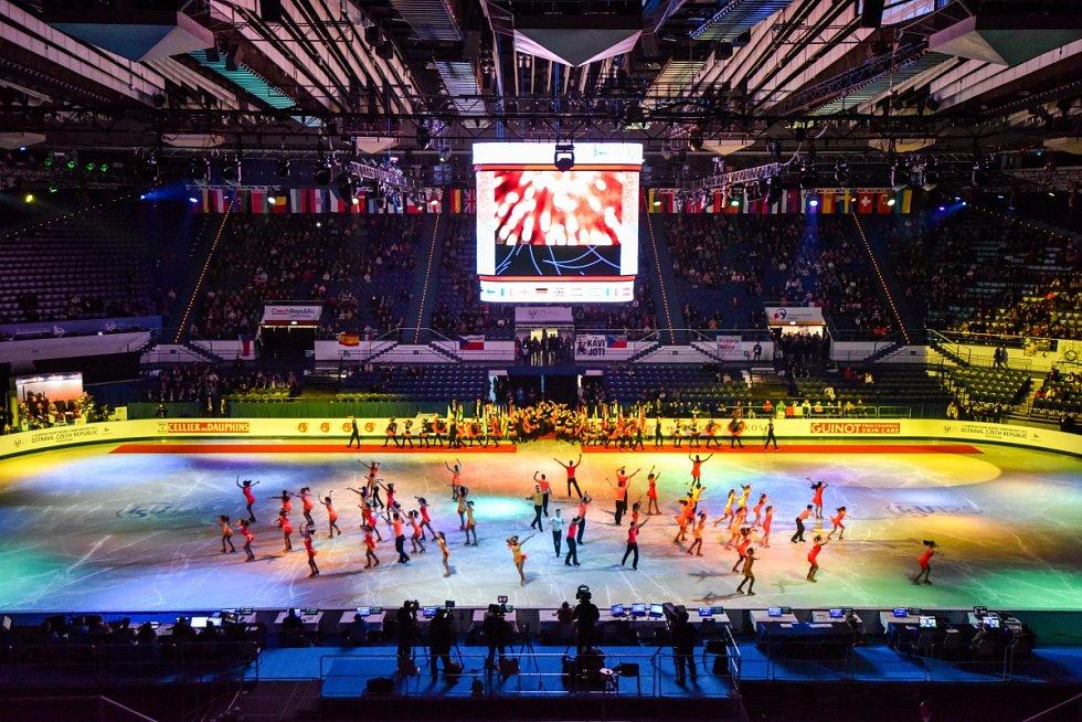Mistrovství Evropy v krasobruslení bylo v Ostravě oficiálně zahájeno.