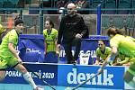 Pohár mistrů ve florbalu, o 3. místo (ženy): 1. SC Vítkovice - SB-Pro Nurmijarvi, 12. ledna 2020 v Ostravě. Na snímku (zleva) Dušan Dudešek.