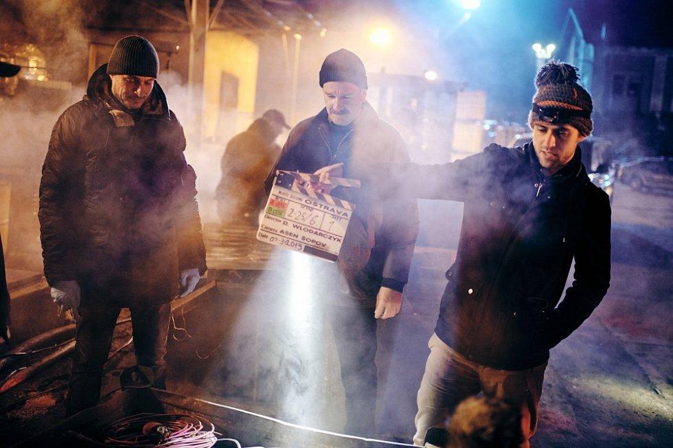 Snímek z natáčení druhého dílu krimiseriálu České televize Místo činu Ostrava.
