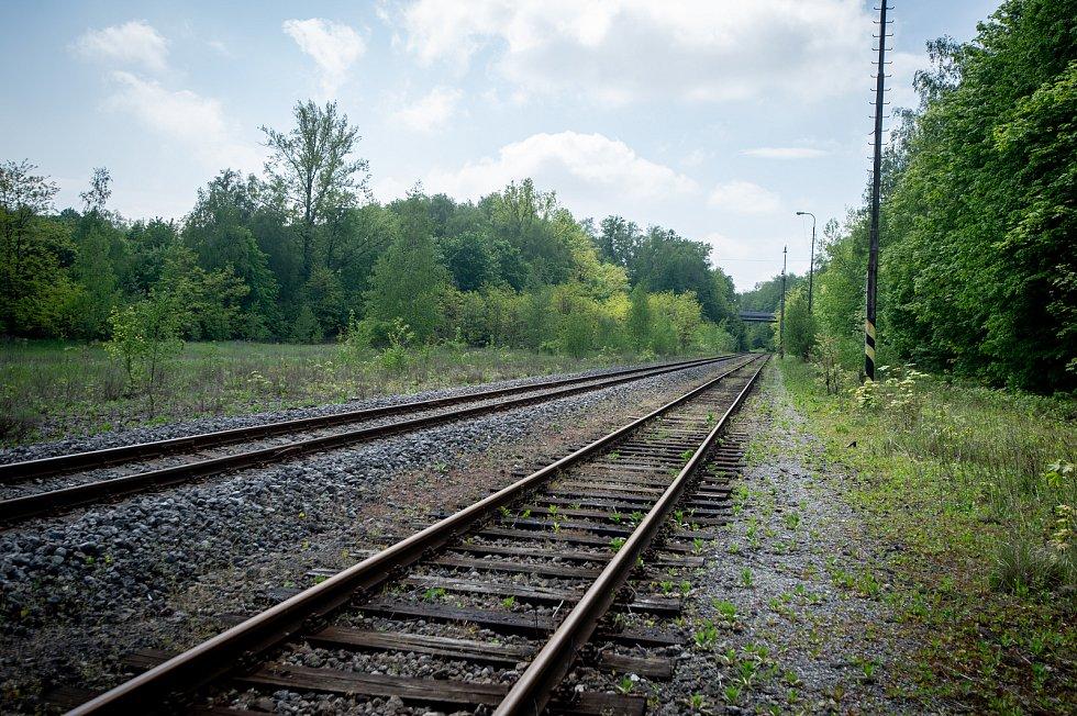 Železniční vlečka od společnosti AWT v blízkosti ZOO Ostrava.