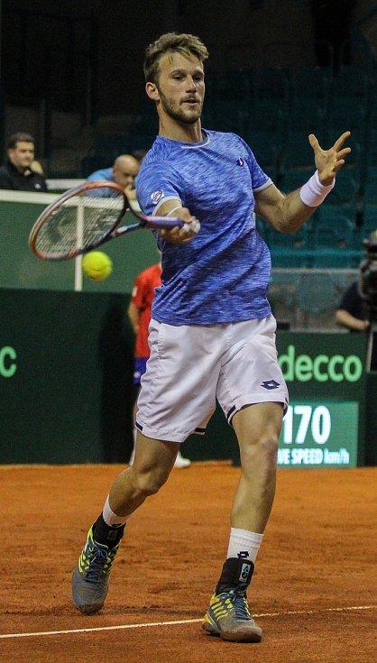 Davis Cup 2018 v Ostravě - Česko vs. Izrael, Edan Leshem