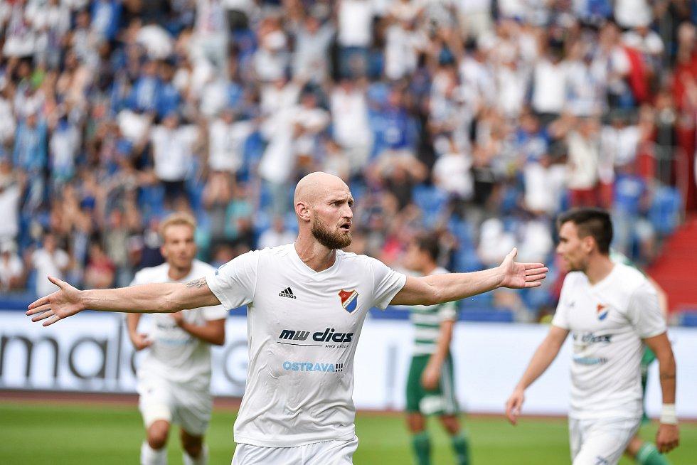 Utkání 5. kola první fotbalové ligy: FC Baník Ostrava - Bohemians 1905 , 10. srpna 2019 v Ostravě. Na snímku radost Tomáš Smola.