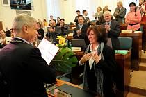 Prestižní Cena města Ostravy byla ve středu udělena Marii Rottrové, Lumíru Pivovarskému a in memoriam Dolores Šavrdové.