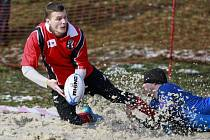 Snow rugby na Skalce.