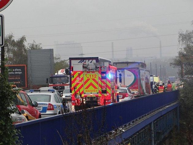 Vážná nehoda na Rudné ulici v Ostravě.